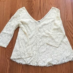 3/4 Sleeve Lace Blouse